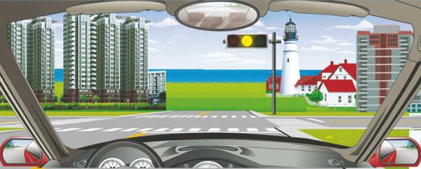 在这种情况下可加速通过交叉路口。