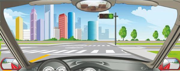 驾驶机动车在路口遇到这种信号灯亮时,不能右转弯。