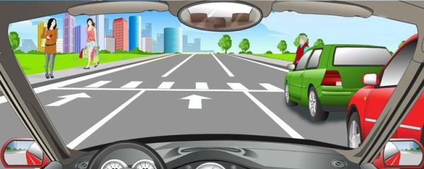 在这种情况下可以加速通过人行横道。