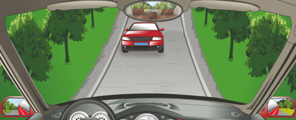 未上坡的车辆遇到这种情况让对向下坡车先行。