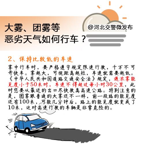 秋冬季节雾天多,如何行车保安全?