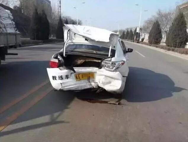 井陉一驾校教练车,连续三天发生交通事故