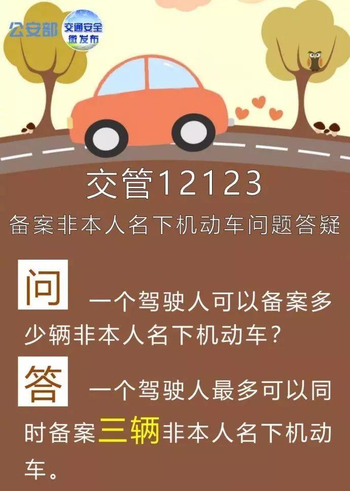 """""""交管12123""""备案非本人名下机动车交通违法问题答疑"""