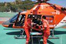 河北张家口首例直升机救援为生命接力