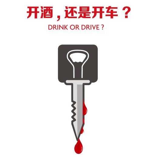 五一宣传资料-开酒还是开车?