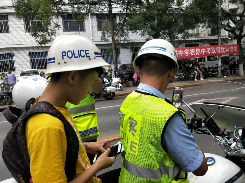 邯郸市交警支队全力护航中考  助学生圆梦