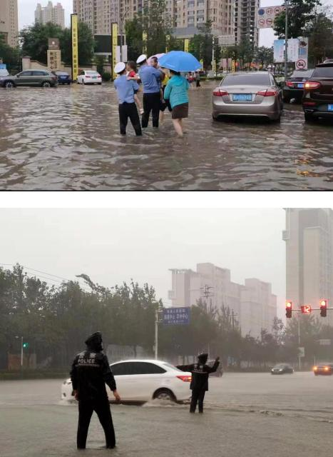"""雨中硬汉——你们是暴雨中最帅的""""网红"""""""