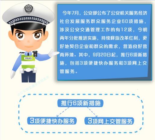 我省公布公安交管6项新措施推行时间表