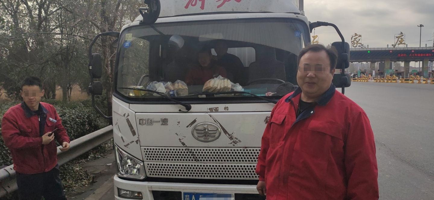 高速交警正定大队查获一起轻型厢式货车超员违法行为