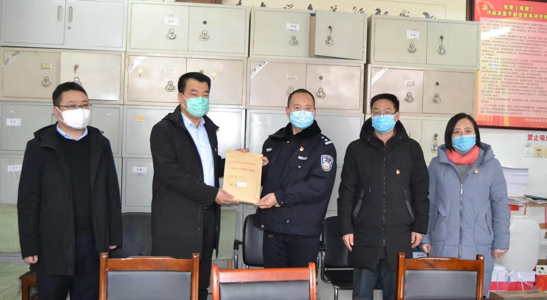 廊坊:大城县公安交警大队开展防控疫情爱心捐款活动