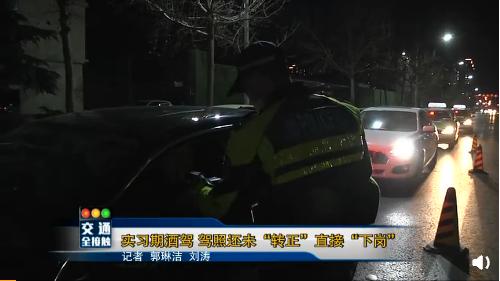 """邯郸:实习期酒驾被查 驾照还未""""转正""""就""""下岗"""""""