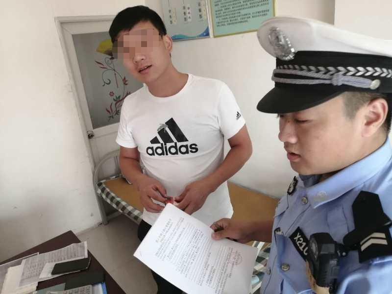 馆陶县交警给辖区运输企业下发禁止上路通知书