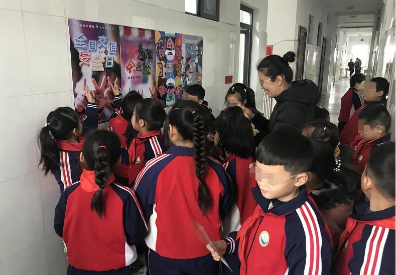高速交警赵县大队122主题宣传日走进沿线小学、幼儿园
