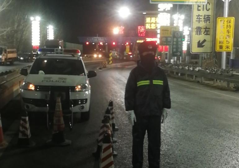 馆陶交警再战疫情 全力以赴筑牢抗疫防线