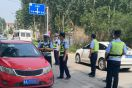 无极县公安交通警察大队与新乐市交警开展异地联合执法行动